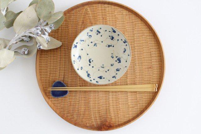 4寸皿 花唐草紋 陶器 石井桃子 画像6