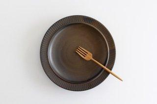 黒マット皿 大 陶器 翁明窯元 小石原焼商品画像