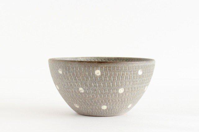 スープボウル ドットマット 【A】 陶器 翁明窯元 小石原焼