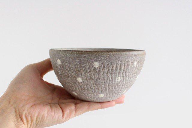 スープボウル ドットマット 【A】 陶器 翁明窯元 小石原焼 画像3