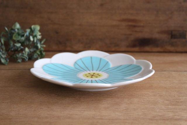 九谷焼 ハレクタニ ハナ取り皿 ブルー 磁器 画像2