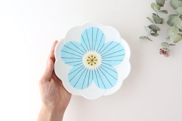 九谷焼 ハレクタニ ハナ取り皿 ブルー 磁器 画像5