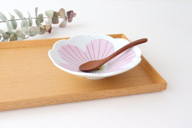 九谷焼 ハレクタニ ハナ中鉢 ピンク 磁器