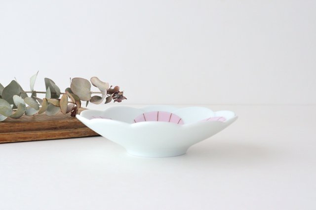 九谷焼 ハレクタニ ハナ中鉢 ピンク 磁器 画像6