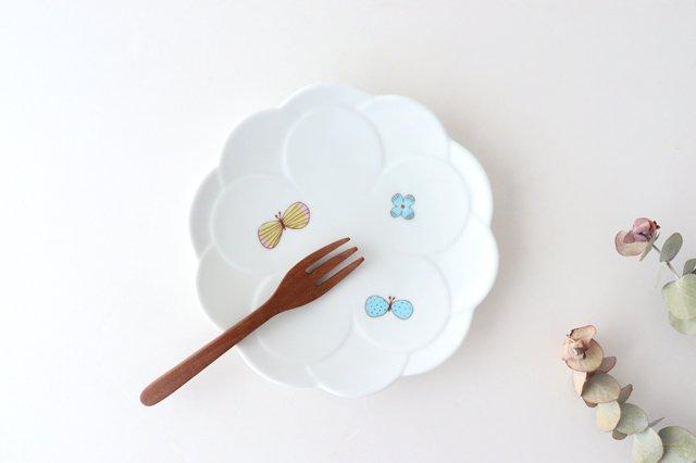 九谷焼 ハレクタニ チョウ取り皿 磁器