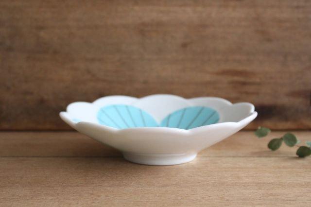 九谷焼 ハレクタニ ハナ中鉢 ブルー 磁器 画像2