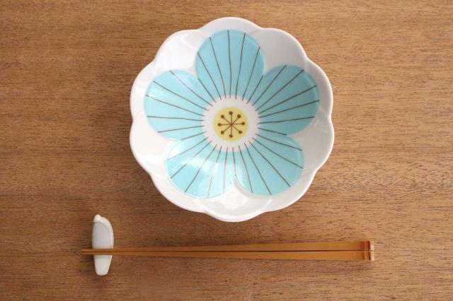 九谷焼 ハレクタニ ハナ中鉢 ブルー 磁器 画像3