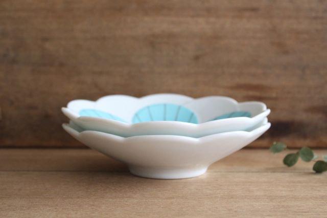 九谷焼 ハレクタニ ハナ中鉢 ブルー 磁器 画像6