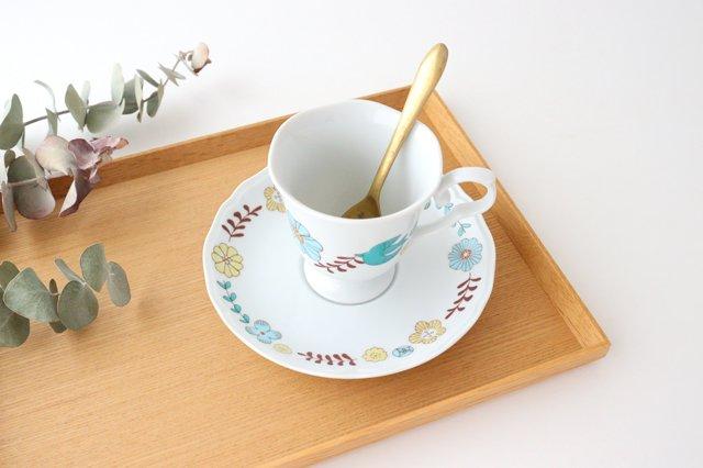 【無料ラッピング対象】花と鳥 カップ&ソーサー 磁器 ハレクタニ 九谷焼 画像5