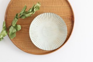 粉引 5寸花皿 陶器 市野耕商品画像
