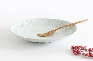 粉引 7寸鎬皿 陶器 市野耕商品画像
