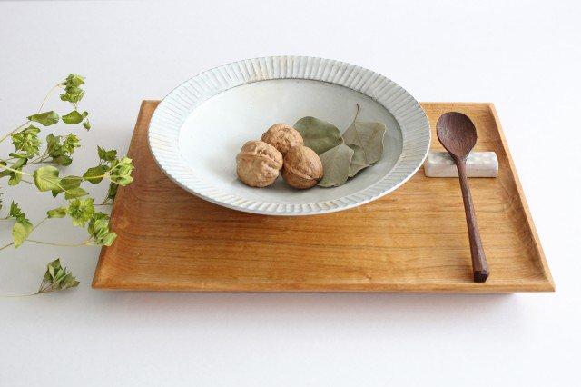 7寸リム鎬鉢 粉引 【A】 陶器 市野耕