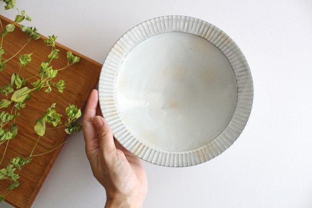 7寸リム鎬鉢 粉引 【A】 陶器 市野耕 画像5