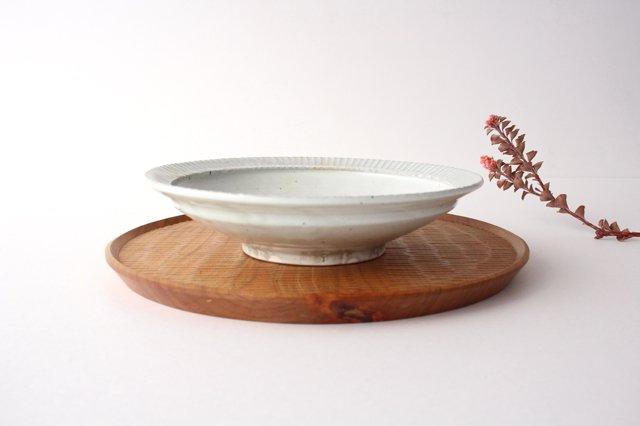 7寸リム鎬鉢 粉引 【A】 陶器 市野耕 画像6