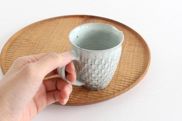 粉引 ピッチャー ウロコ 陶器 市野耕 画像2