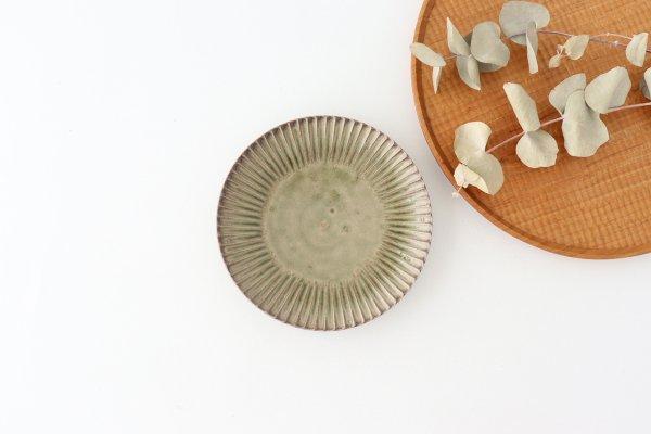 灰釉 5寸花皿 陶器 市野耕商品画像
