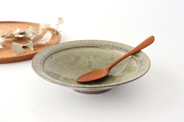 7寸リム鎬鉢 灰釉 陶器 市野耕商品画像