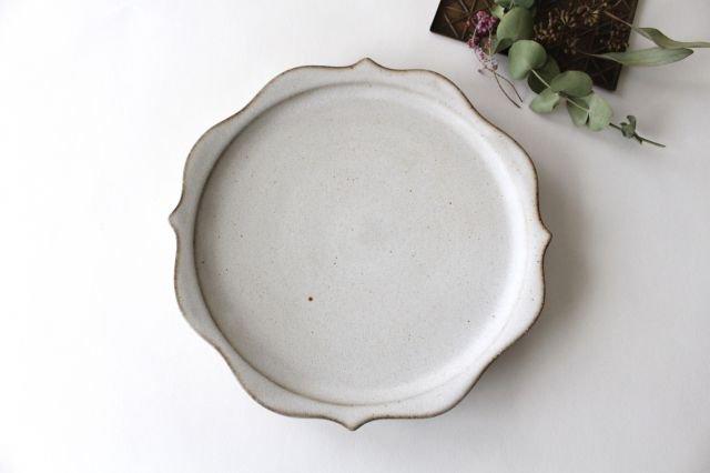 稜花皿 白 陶器 鯨井円美