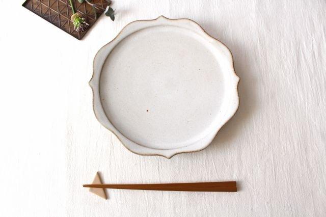 稜花皿 白 陶器 鯨井円美 画像3