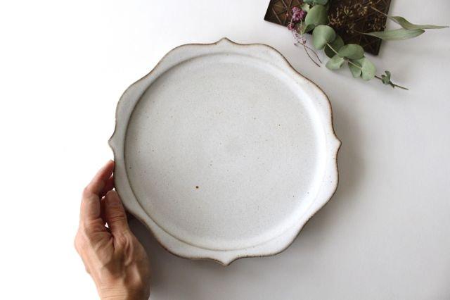 稜花皿 白 陶器 鯨井円美 画像4