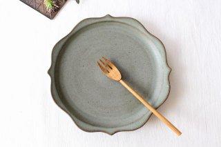 稜花皿 オリーブグリーン 陶器 鯨井円美商品画像