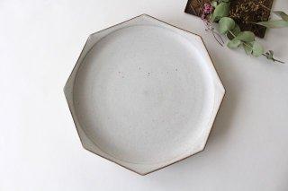 八角皿 白 陶器 鯨井円美商品画像