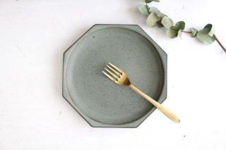 八角皿 オリーブグリーン 陶器 鯨井円美商品画像