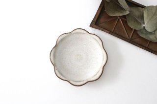 花型小皿 白 陶器 鯨井円美商品画像