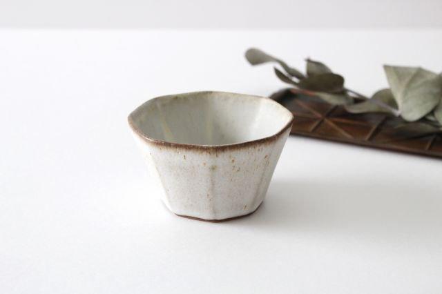 八角小鉢 白 陶器 鯨井円美