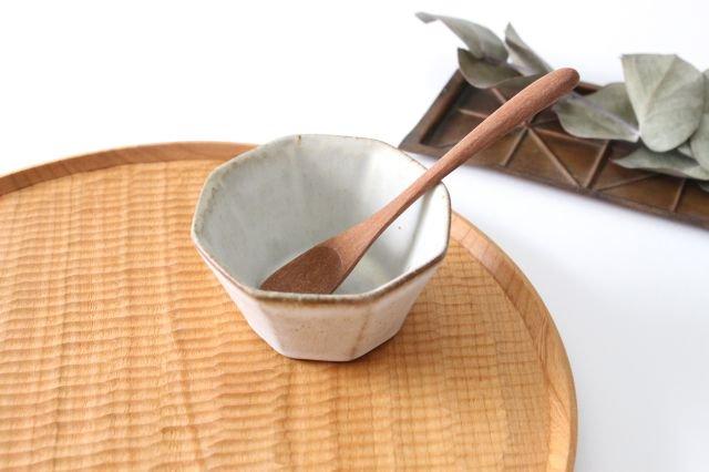 八角小鉢 白 陶器 鯨井円美 画像2