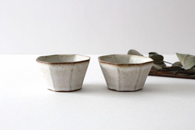 八角小鉢 白 陶器 鯨井円美 画像3