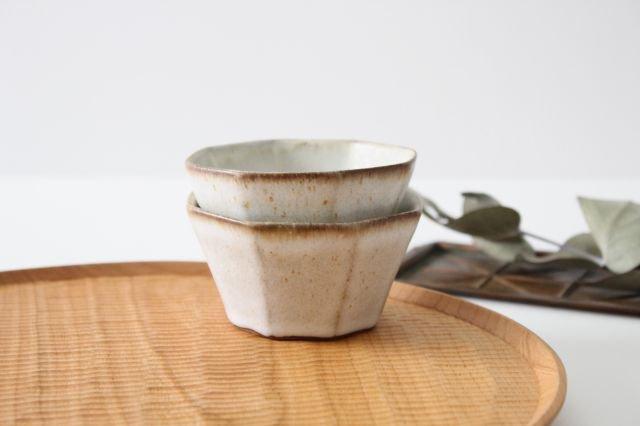 八角小鉢 白 陶器 鯨井円美 画像4