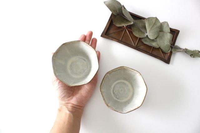 八角小鉢 白 陶器 鯨井円美 画像5