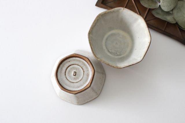八角小鉢 白 陶器 鯨井円美 画像6