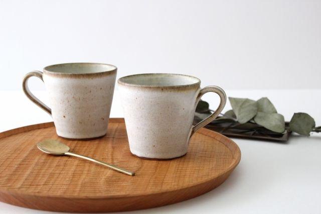 マグカップ 白 陶器 鯨井円美