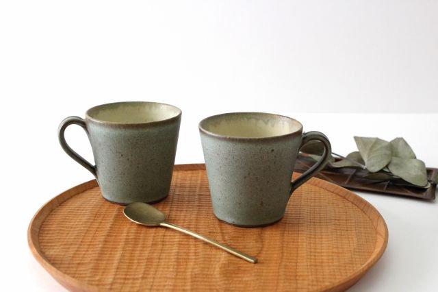 マグカップ オリーブグリーン 陶器 鯨井円美