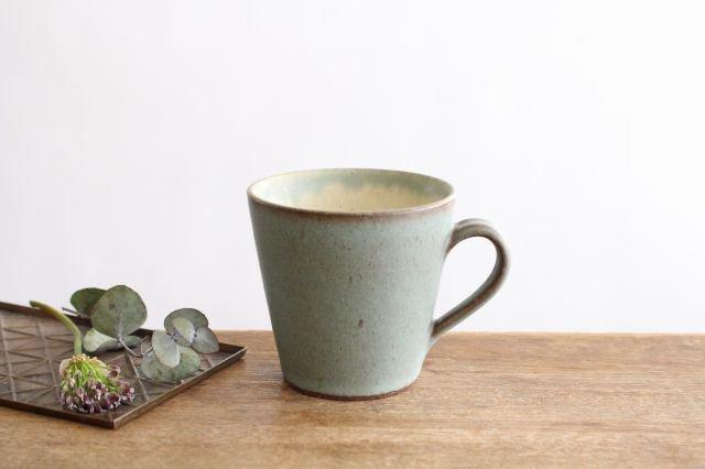 マグカップ オリーブグリーン 陶器 鯨井円美 画像2