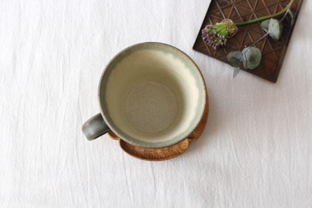 マグカップ オリーブグリーン 陶器 鯨井円美 画像3