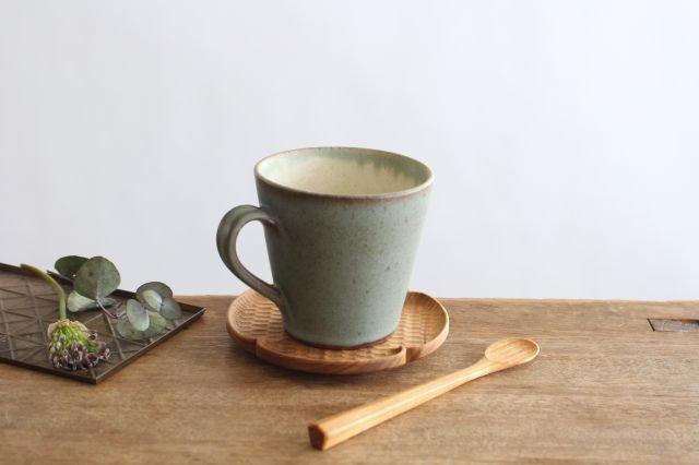 マグカップ オリーブグリーン 陶器 鯨井円美 画像4