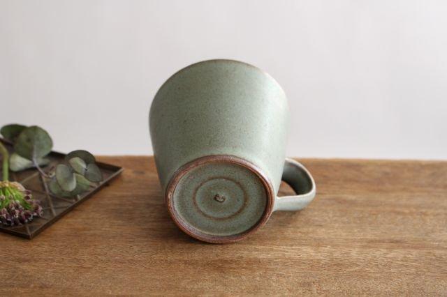マグカップ オリーブグリーン 陶器 鯨井円美 画像5