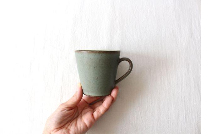 マグカップ オリーブグリーン 陶器 鯨井円美 画像6