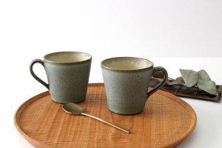 マグカップ オリーブグリーン 陶器 鯨井円美商品画像