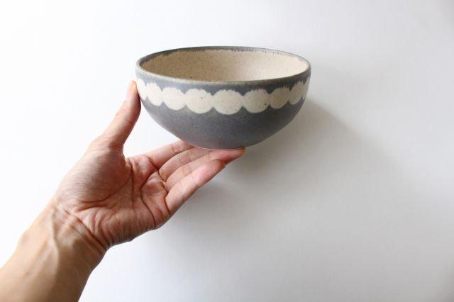 丸模様ボウル 陶器 古川まみ 画像5