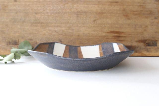 ストライプ皿 陶器 古川まみ 画像2