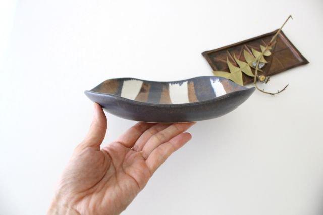 ストライプ皿 陶器 古川まみ 画像4
