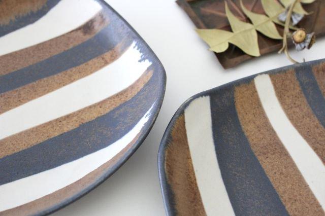 ストライプ皿 陶器 古川まみ 画像6