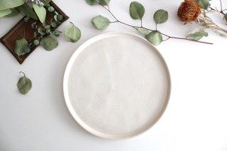 平皿24cm 白 陶器 直井真奈美商品画像