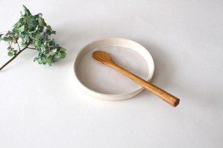平皿10cm 白 陶器 直井真奈美商品画像