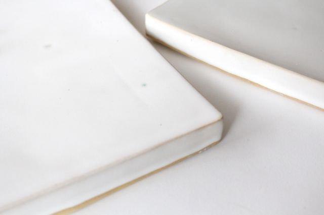 角台皿 大 白 陶器 直井真奈美 画像5