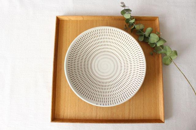 7寸皿 トビカンナ 陶器 小石原焼